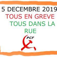 Grève générale et nationale le 5 décembre 2019
