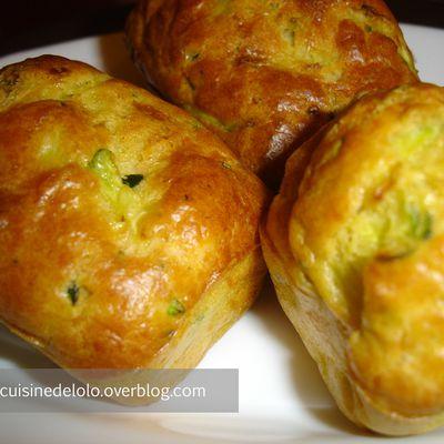 Mini cakes aux courgettes saumon et parmesan
