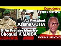 3RNA MAAYA - Doumbi Fakoly (Deuxièmes propos ouverts a Assimi goïta & Choguel K maïga)