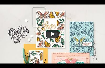 """Lot Floating et Fluttering"" chez Stampin'Up"