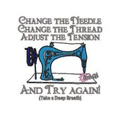Change the Needle Quote Embroidery Design