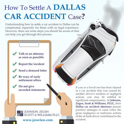 How To Settle A Dallas Car Accident Case?