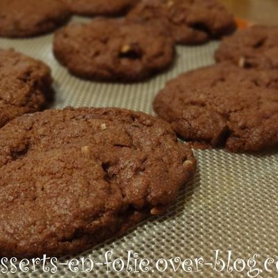 Cookie chocolat - noisettes - pépites choco