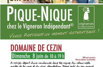 Domaine de Cézin: Pique-nique chez le Vigneron Indépendant #vigneronindep