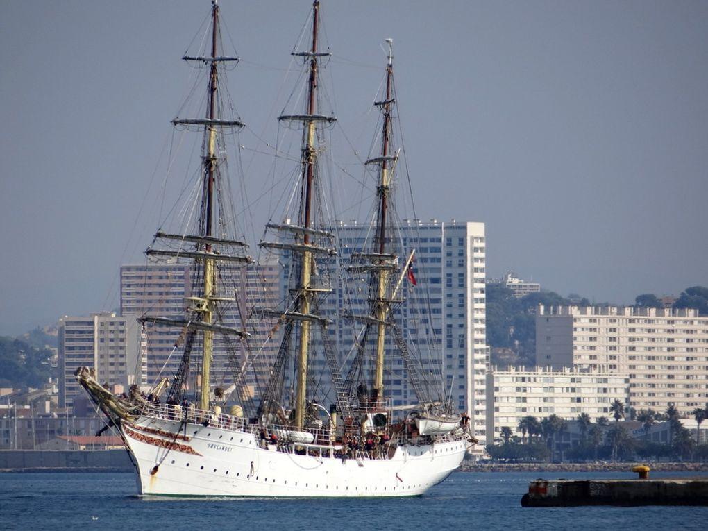SORLANDET , navire ecole norvegien arrivant à la Seyne sur Mer le 14 octobre 2017
