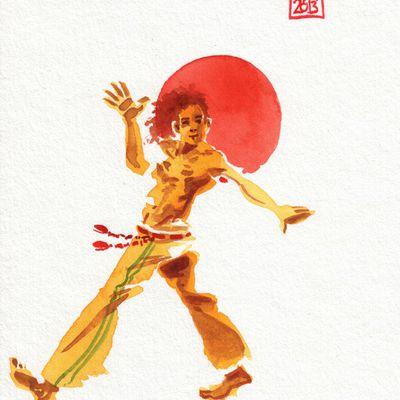 Encres : Capoeira - 297 [ #capoeira #watercolor #illustration]