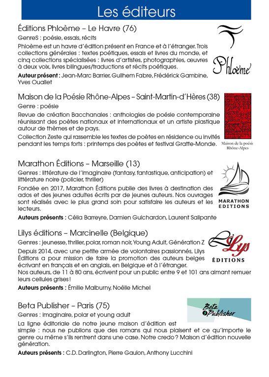 Les éditeurs invités à l'Antre des livres d'Orange les 10 et 11 juillet