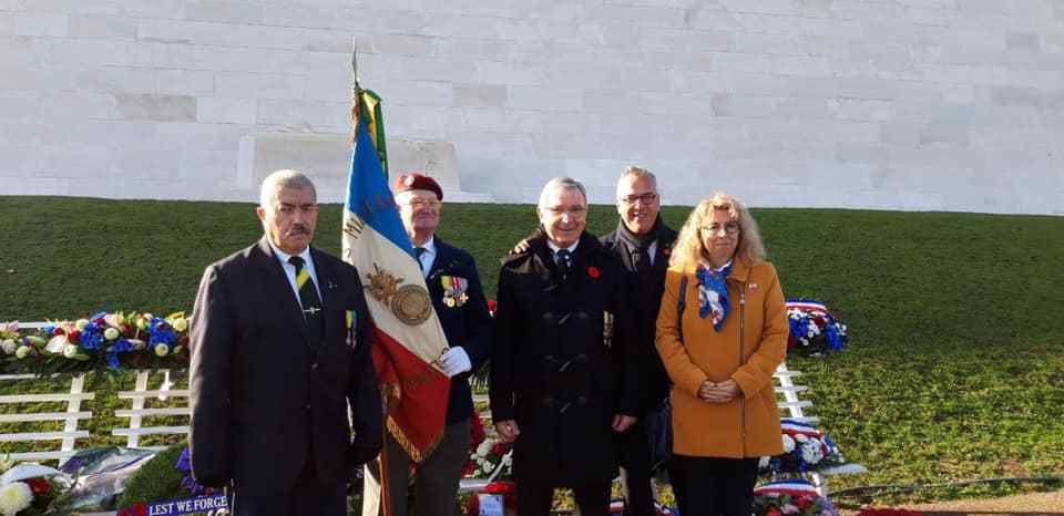 Le Mémorial Canadien de Vimy - Le Président Jean-Claude MAURY (162° Section S.N.E.M.M.)
