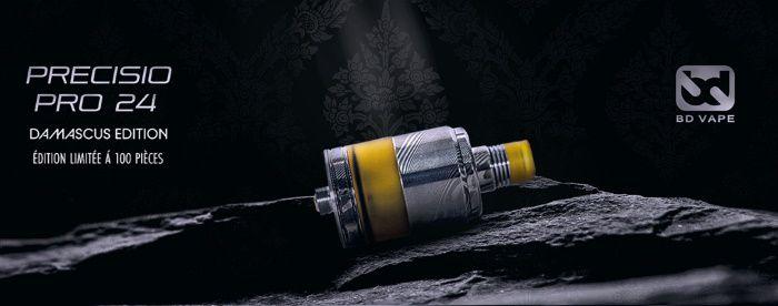 Vape batch - Atomiseur Precisio 24 Pro RTA Damascus Edition Limitée de chez BD Vape