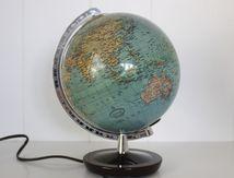 Petit globe terrestre Colomb Duplex Berlin et Stuttgart Années 70 - Vintage