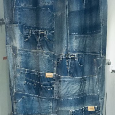 Double Rideau en Denim de Jean's Recyclés
