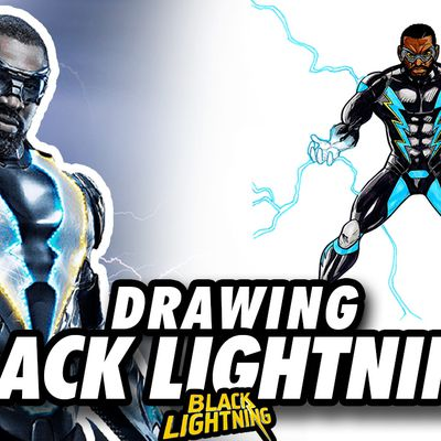 ⚡️ BLACK LIGHTNING ! Speed Drawing ✏️ Comic Book Style ✏️⚡️