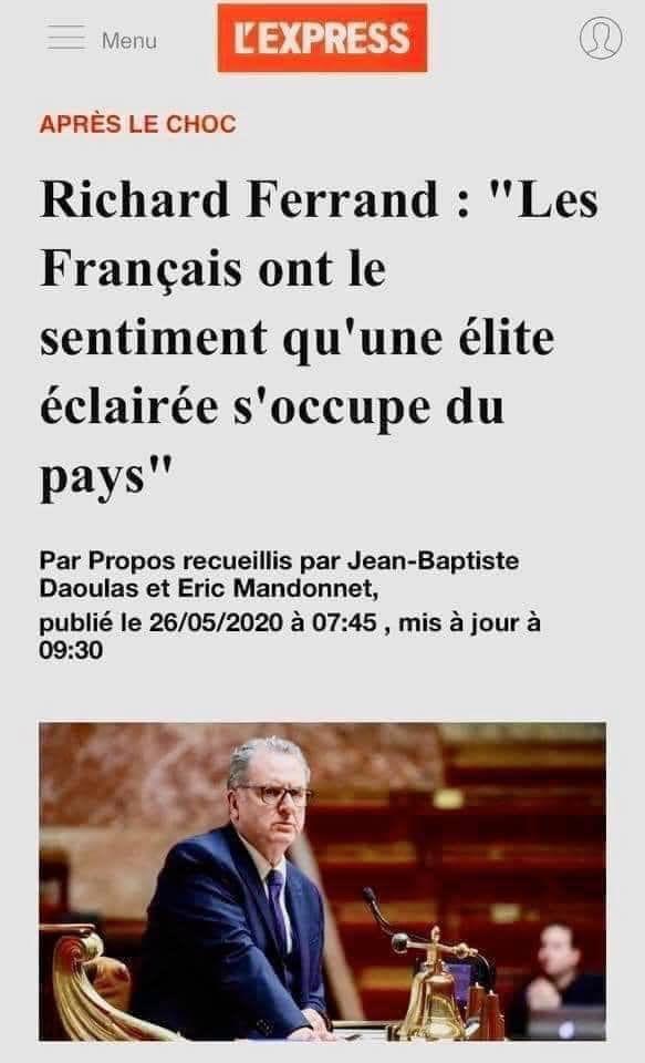 28-05-21- LE PRESIDENT DE .L'ASSEMBLEE NATIONALE N'EST-IL PAS UN PEU PRESOMPTUEUX ???
