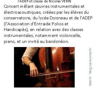 Sound & Fury-créations sonores et compositions des élèves de Nicolas Vérin au Conservatoire Iannis Xenakis - Evry GPS, mardi 7 mai à 19h