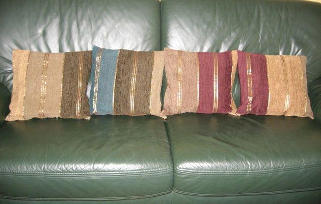 Housses de coussins à partir d'un plaid