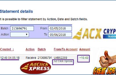 Ad Click Xpress Withdrawal Proof #24