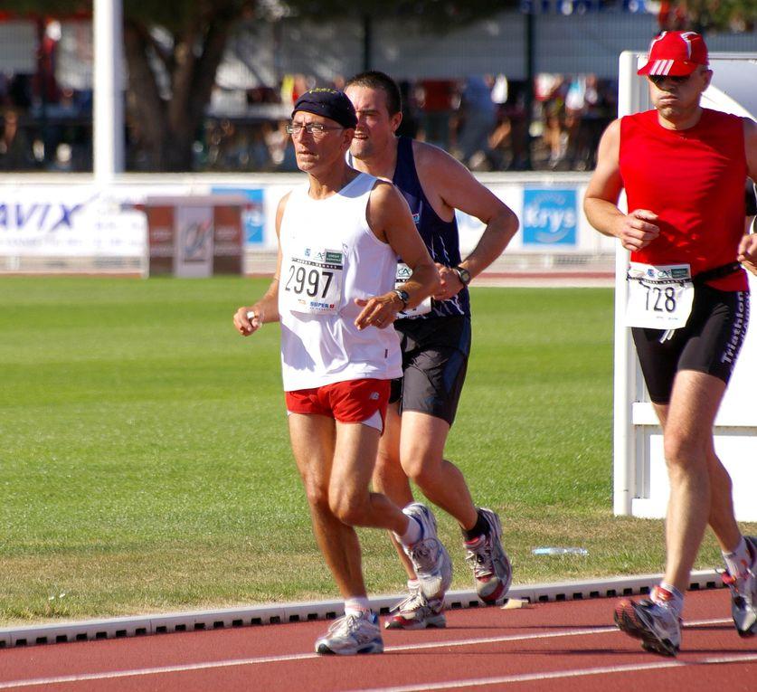 Le semi Marathon Auray-Vannes ( 21 km 100 ) et le 10 km sous une forte chaleur. Premier Semi pour Betty !