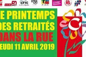 rassemblement des retraités 11 avril 2019 Albertville
