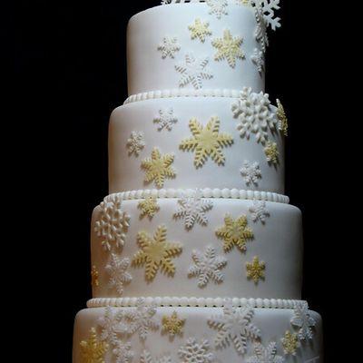"Wedding cake ""Hiver"" - Winter wedding cake"