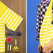 How to sew a bag from an old T-shirt
