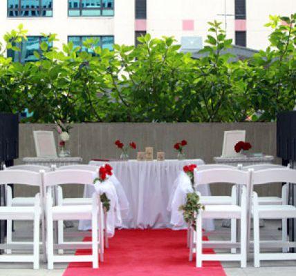 Idées pour décoration de mariage rouge