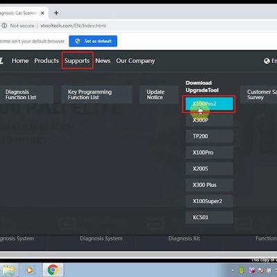 Procédure en ligne de mise à jour du programmeur clé Xtool X100 Pro2