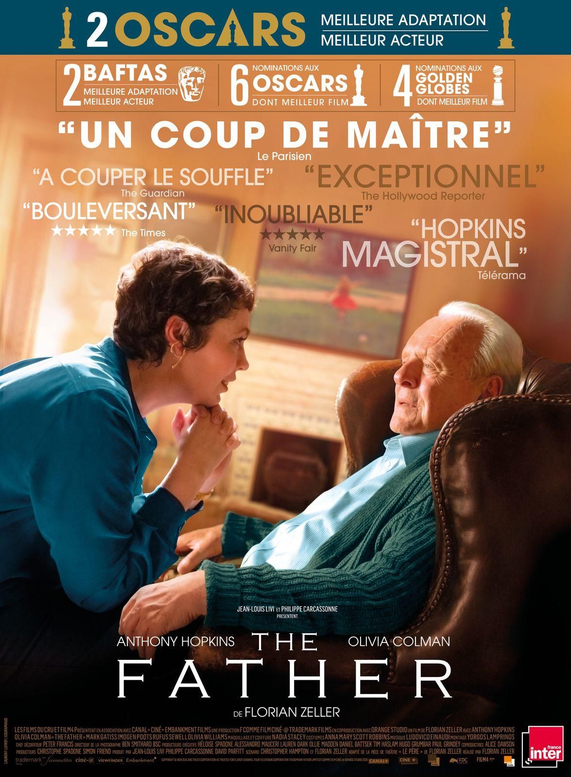 THE FATHER - 2 récompenses aux Oscars 2021 pour Anthony Hopkins, Florian Zeller