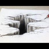 """Comment dessiner un Trompe-l'œil 3D """"Fissure"""" [Tutoriel]"""