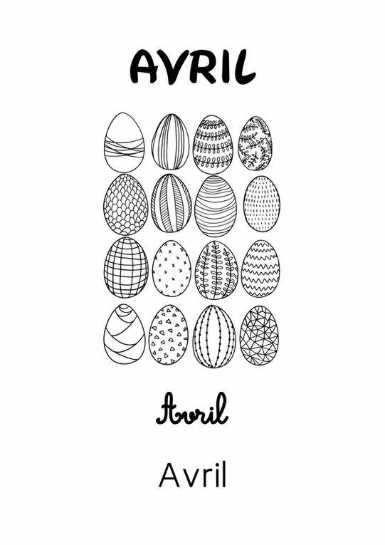 Les Mois de l'Année 2 : Avril [Affichage][Coloriage][Maternelle][CP]