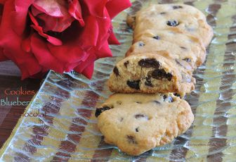 Cookies aux blueberries et chocolat au lait
