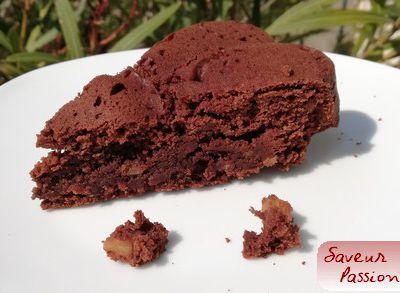 Brownie aux haricots rouges et chocolat