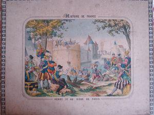 illustration de Bernard COUDERT ; à droite carton du jeu de loto classique