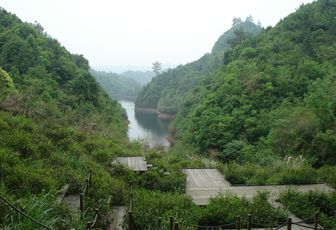 Trek - camping à Yun Yan Hu, Anhui, Chine