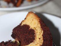 Bundt cake marbré chocolat orange