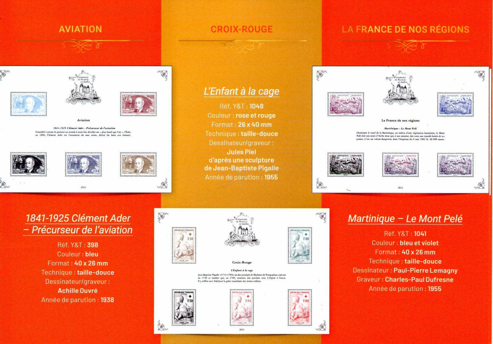 Patrimoine de France en timbres 2021