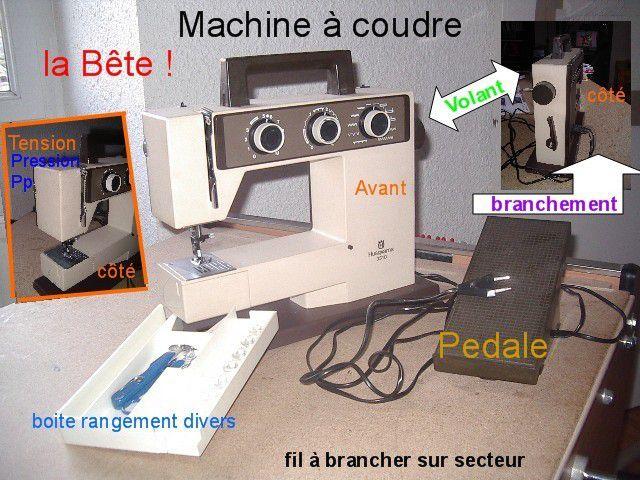 Ma machine sur toute les coutures...