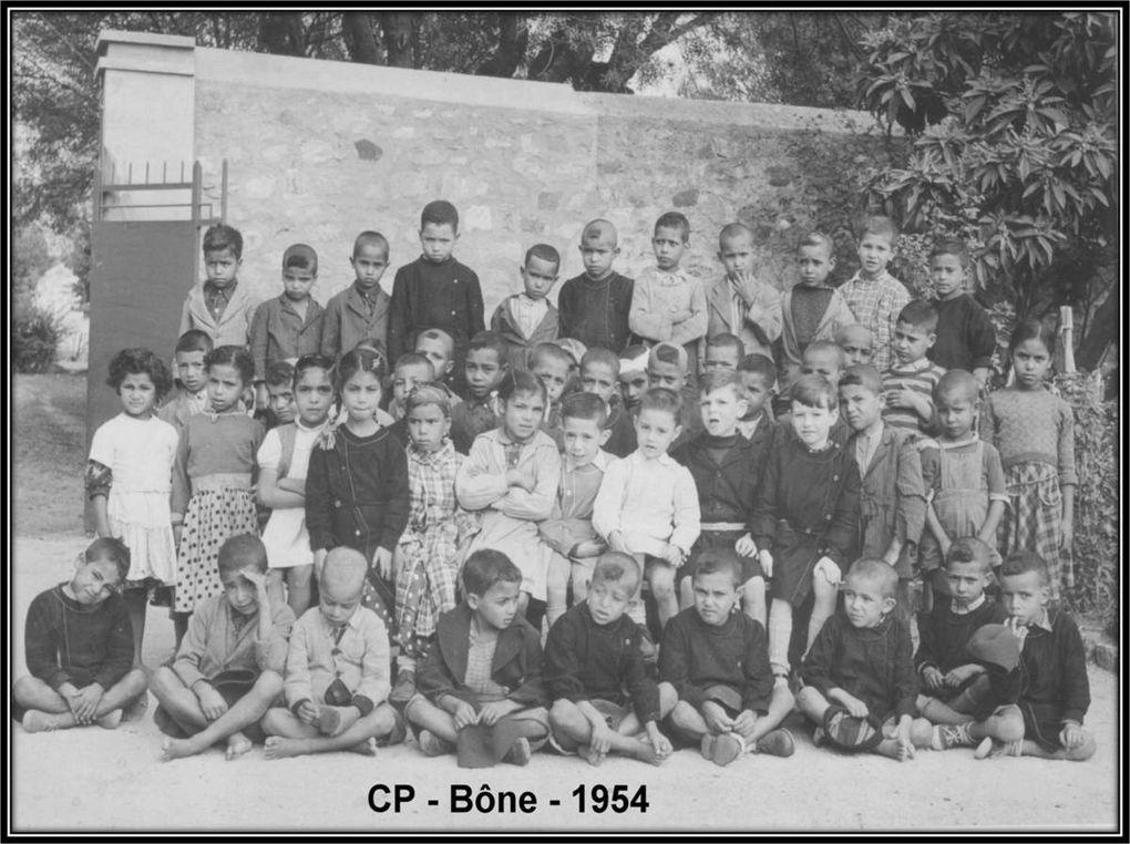 Pour diaporama : cliquer sur l'une des flèches et maintenir le picto ( main )  sur la flèche - Souk et Tnine (1922) ; Yakouren (1930) ; Attatba (1935) ; Mercier Lacombe (1936) ; Nemours (1938) ; Mangin (filles et garçons) ; Rouîna (1953) ; Bône (1954) ; Blida (1958)