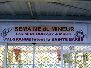 La mine s'expose au Super U à Algrange en 2010