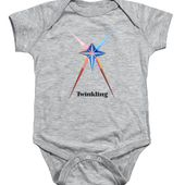 Twinkling Text Onesie for Sale by Michael Bellon