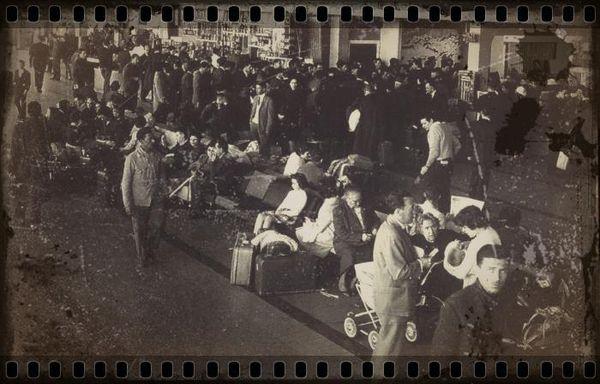 Exode de Pieds-Noirs en 1962 (Copyright : site Histoire en Questions).