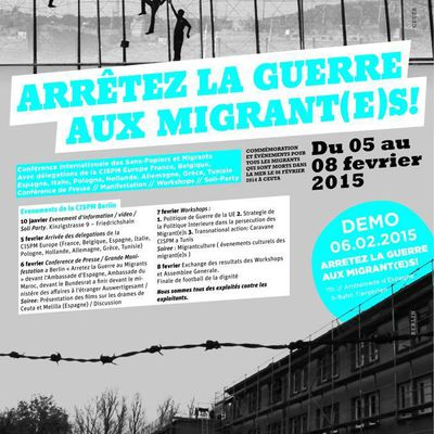 Stop War on Migrants ! - 5 to 8 of February in Berlin - Call for support STOP WAR ON MIGRANTS !