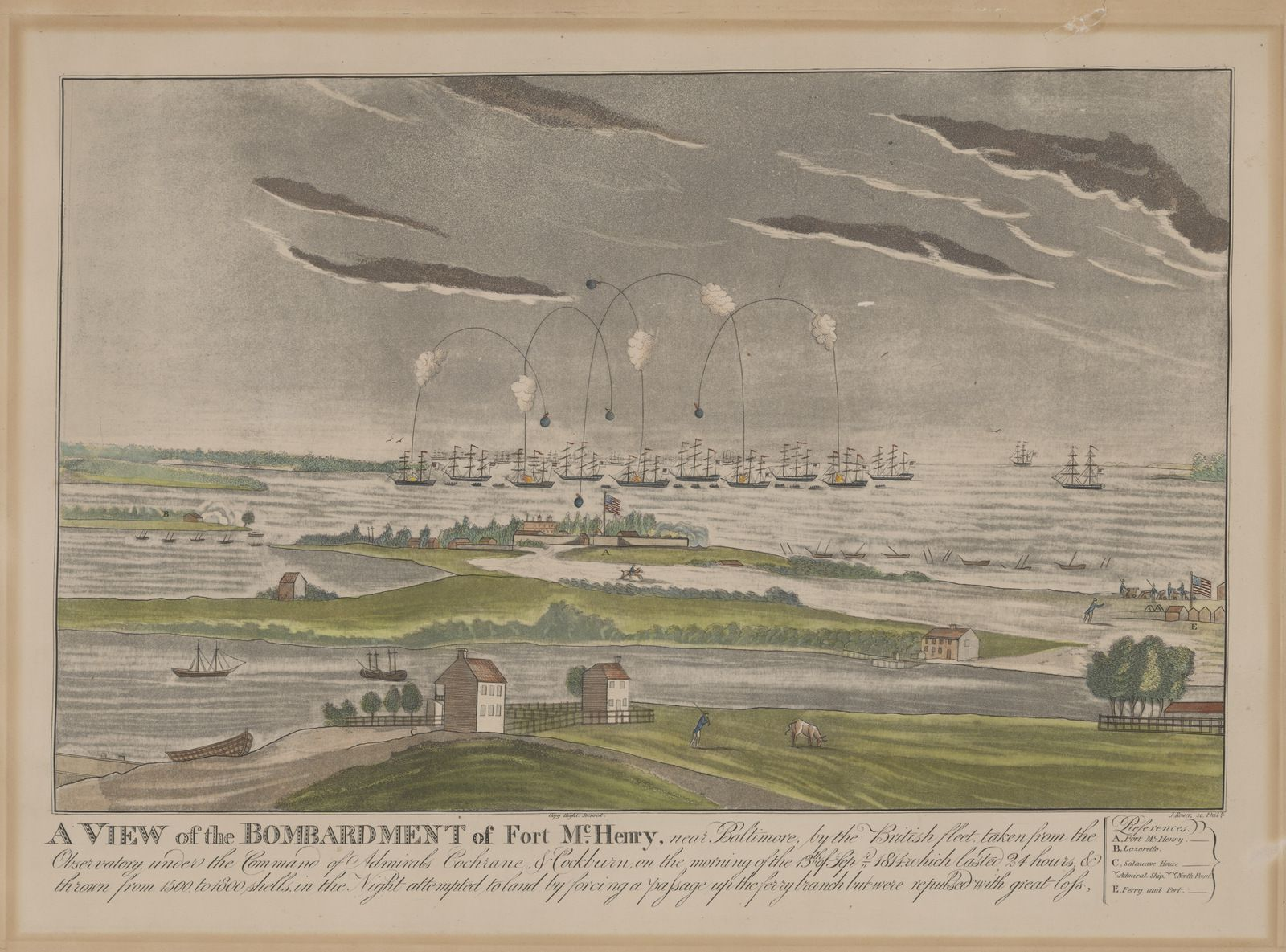 Fusée Congreve - Congreve rocket - Rochettes - Bombardement Fort McHenry - Baltimore - 1814 - Hymne américain - The Star-Spangled Banner - Francis Scott Key - John Bower