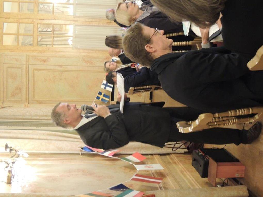 """16 nationalités le 13 février  pour notre dîner sur les """"interdépendances franco-allemandes  au sein de l'UE» par Son Excellence M. Nikolaus MEYER-LANDRUT Ambassadeur d'Allemagne en France"""