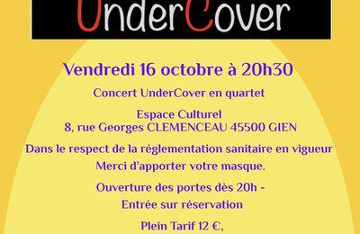 Concert UnderCover quartet à l'auditorium de Gien le 16 octobre 2020