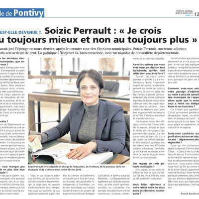 Pontivy Journal - Mars 2021 - Soizic Perrault «je crois au toujours mieux et non au toujours plus»