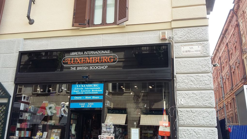 Librairie internationale à Turin
