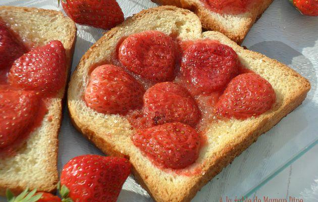 Tartines de fraises