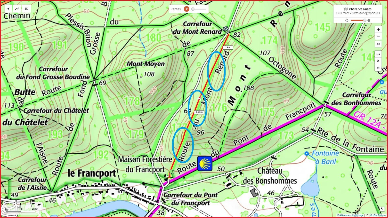la Route du Mont Renard