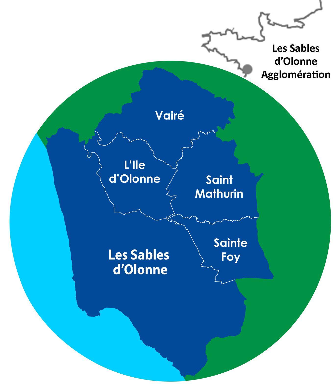 """LES 5 COMMUNES QUI COMPOSENT """"LES SABLES D'OLONNE AGGLOMÉRATION"""""""