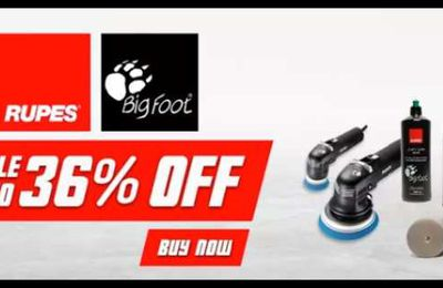 Sale [up to 36%] Rupes Bigfoot Car polishers - Limited Period Offer